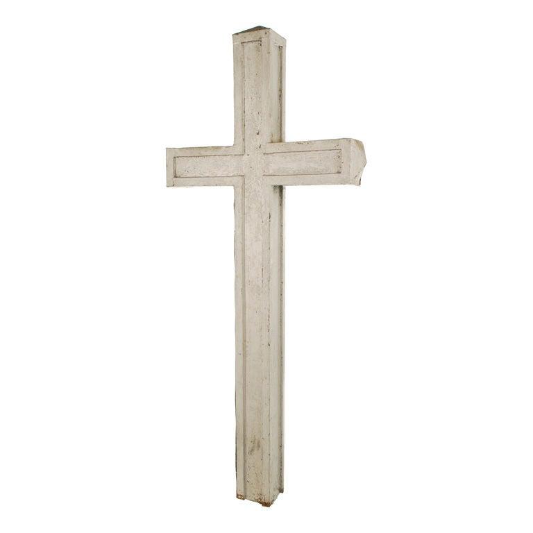 Large Zinc Church Cross At 1stdibs