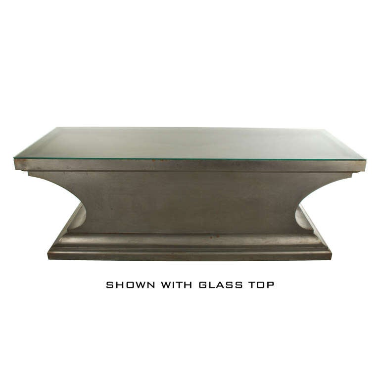 Industrial Style Coffee Table Console From Funeral Table