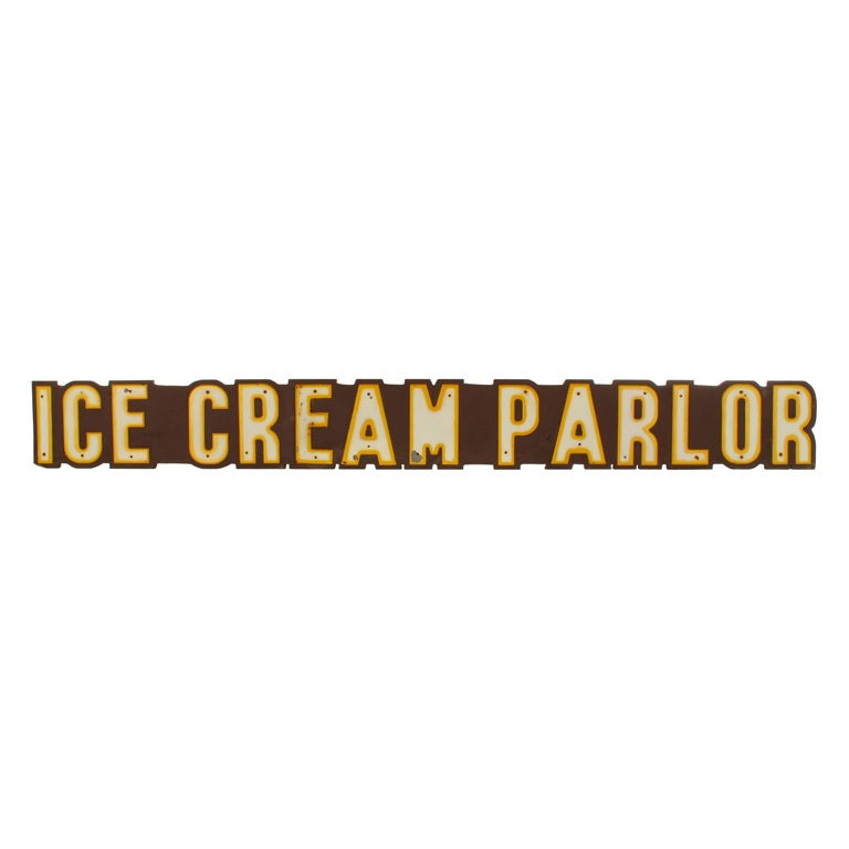 Large Ice Cream Parlor Sign, Over 8' Long
