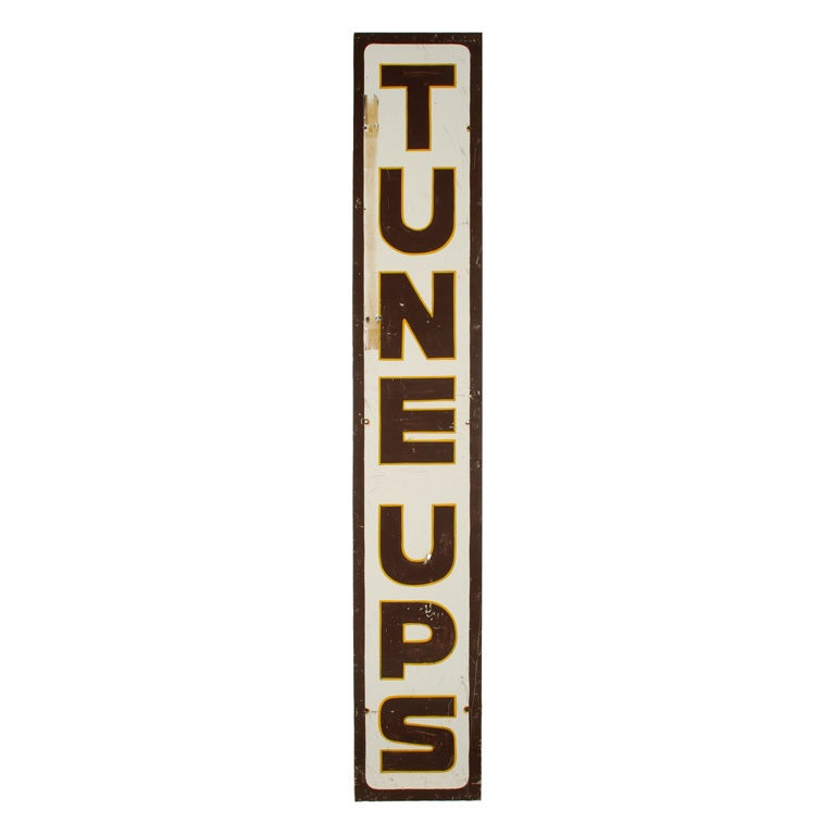 Large Gas Station Tune Ups Sign 8 Ft Tall At 1stdibs