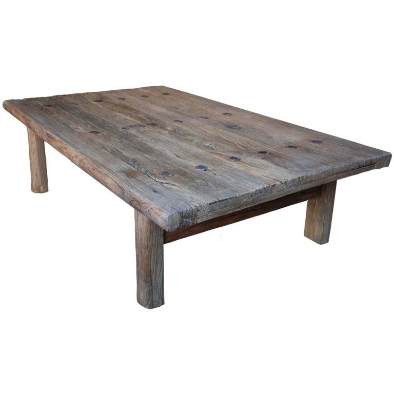 Weathered Coffee Table At 1stdibs