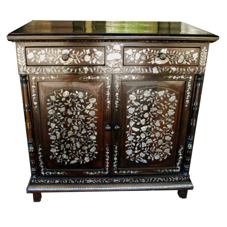 French Colonial Inlaid Cabinet, circa 1930 at 1stdibs