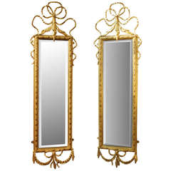20th Century English Tall Gold Mirrors