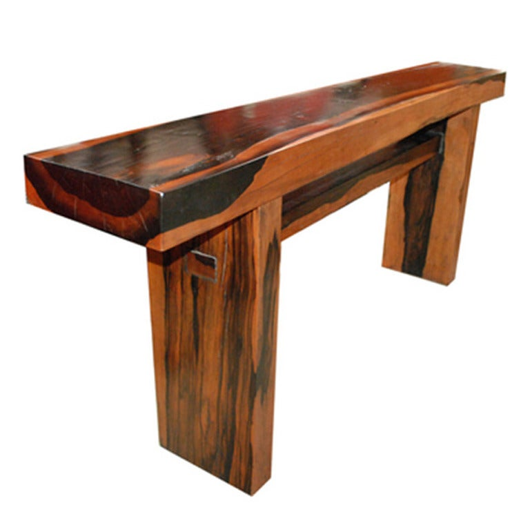 Dark Kamagong Wood Table At 1stdibs