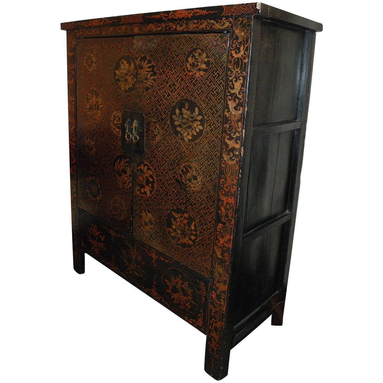 black lacquered chinese cabinet at 1stdibs