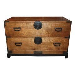 Japanese Tansu Chest on Stand, Early 20th century
