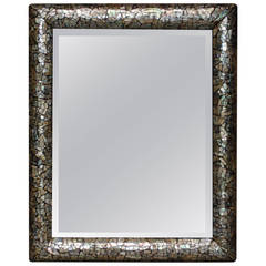 French Colonial Mother-of-Pearl Inlaid Mirror
