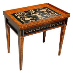 Louis XVI Style Inlaid Tray Table