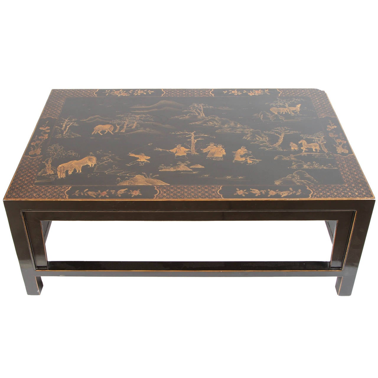 Chinese Chinoiserie Lacquer Coffee Table At 1stdibs