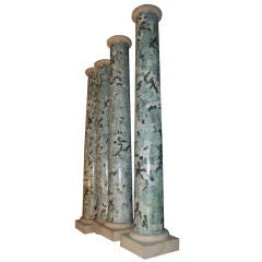 Set of four French Pillars, 20th century