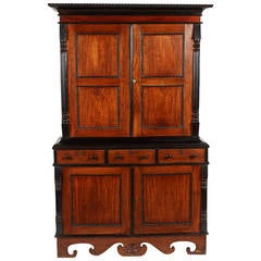 19th Centruy British Colonial Satinwood and Ebony Cabinet