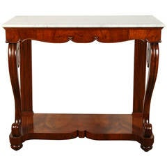 19th Century Northern Italian Mahogany Console
