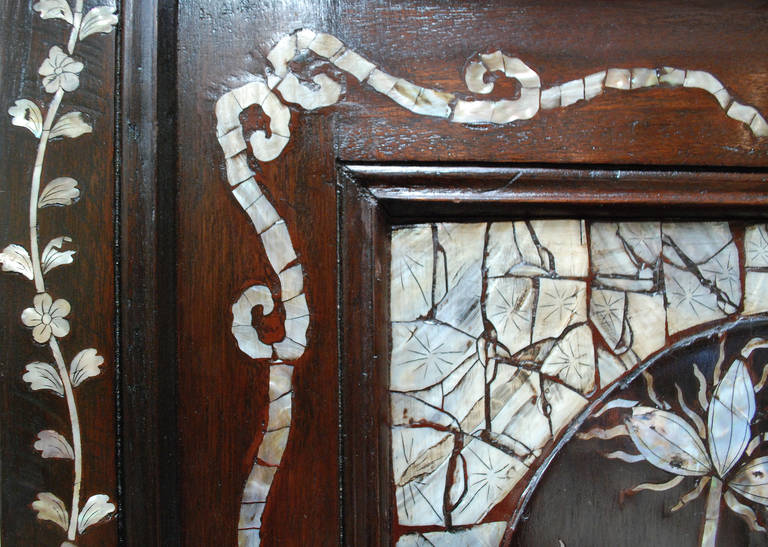 Late 19th Century Inlaid Mother Of Pearl Armoire At 1stdibs