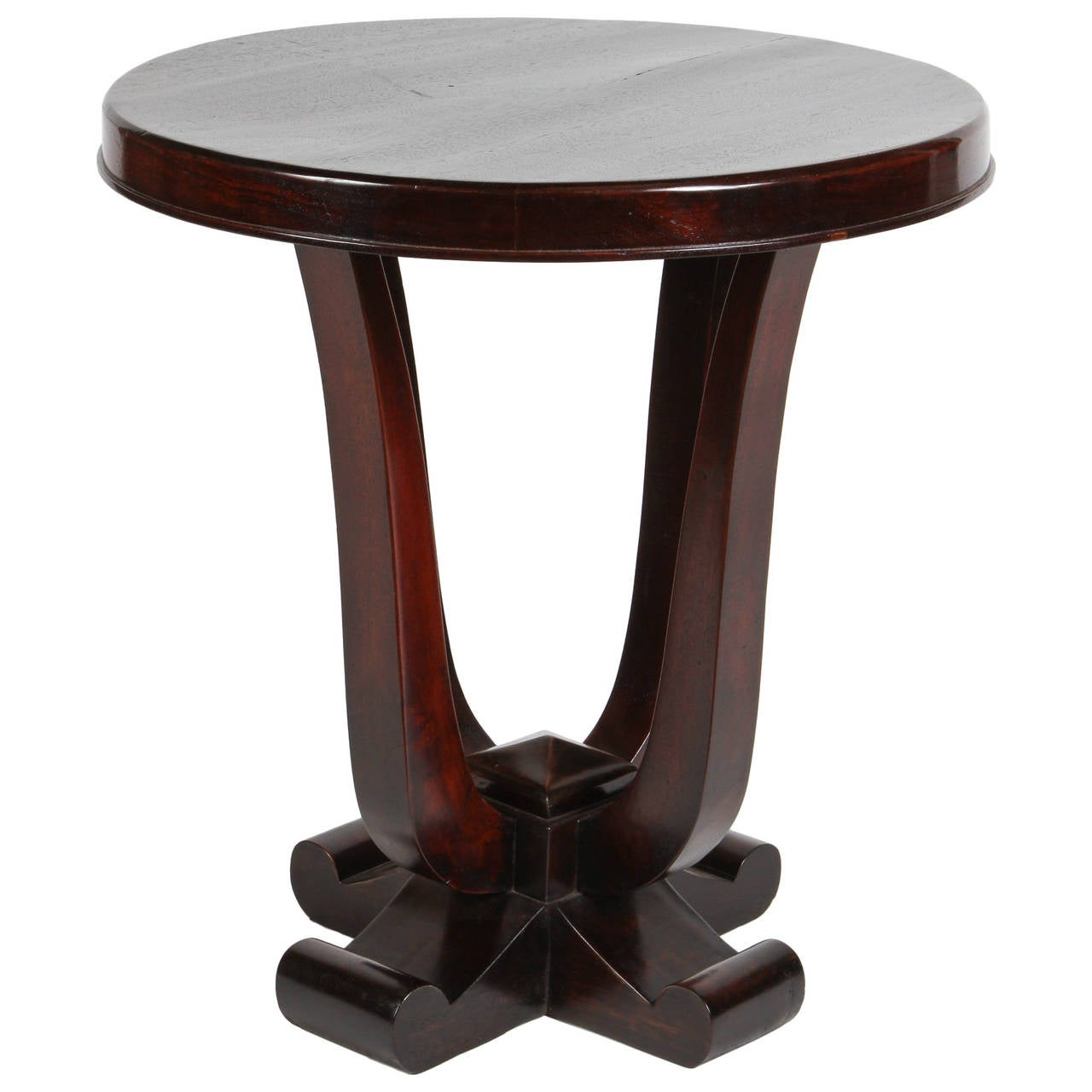 round rosewood art deco table for sale at 1stdibs. Black Bedroom Furniture Sets. Home Design Ideas
