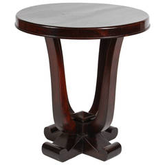 Round Rosewood Art Deco Table