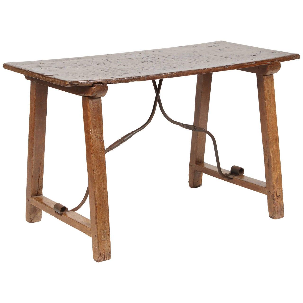 19th Century Spanish Walnut Table