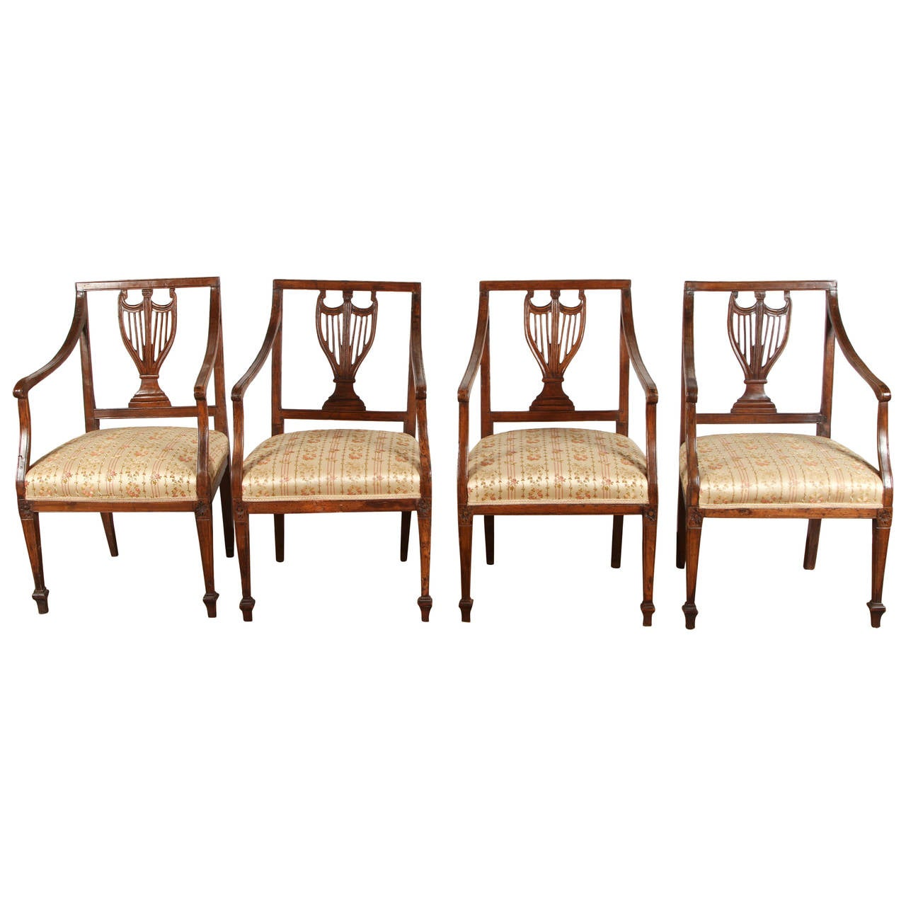 Set of Four 18th Century French Chairs
