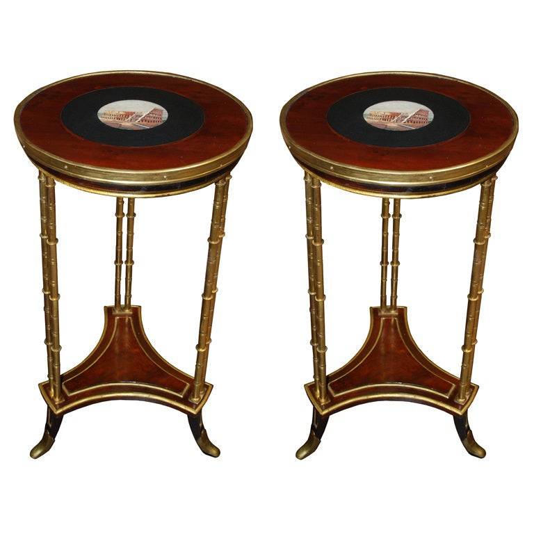 18th Century French Neoclassical  Micro-Mosaic Top Tables