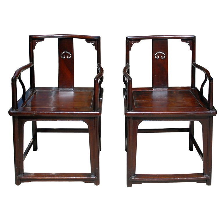 Chinese ming style chairs 18th century at 1stdibs for Chinese style furniture for sale