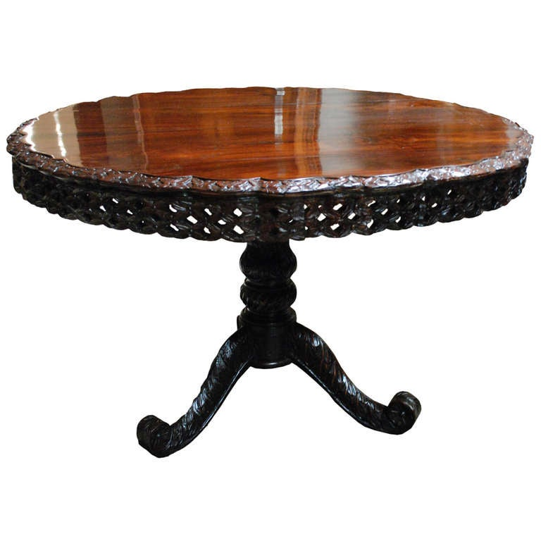 19th c British Colonial Rosewood Round Table at 1stdibs : 941160l from www.1stdibs.com size 768 x 768 jpeg 41kB