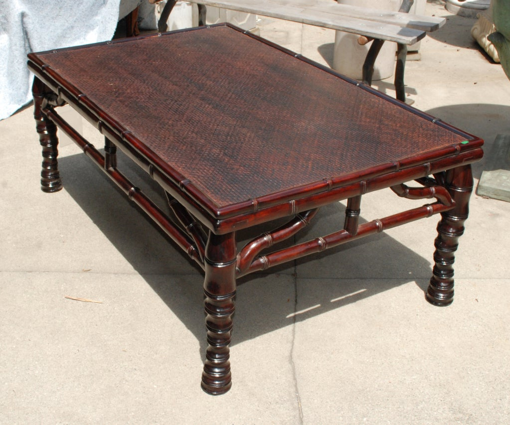 chinese faux bamboo coffee table at 1stdibs
