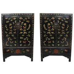 18th Century Chinese Butterfly Cabinets