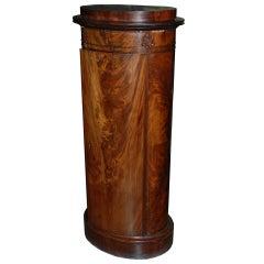 Mid 19th Century Danish Mahogany Pedestal Cabinet