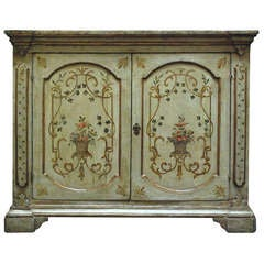 Early 19th Century Italian Painted Buffet with Key