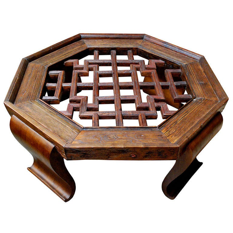 17th century chinese octagon coffee table at 1stdibs for Octagon glass top coffee table