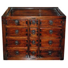 Miniature Chinese Medicine Cabinet