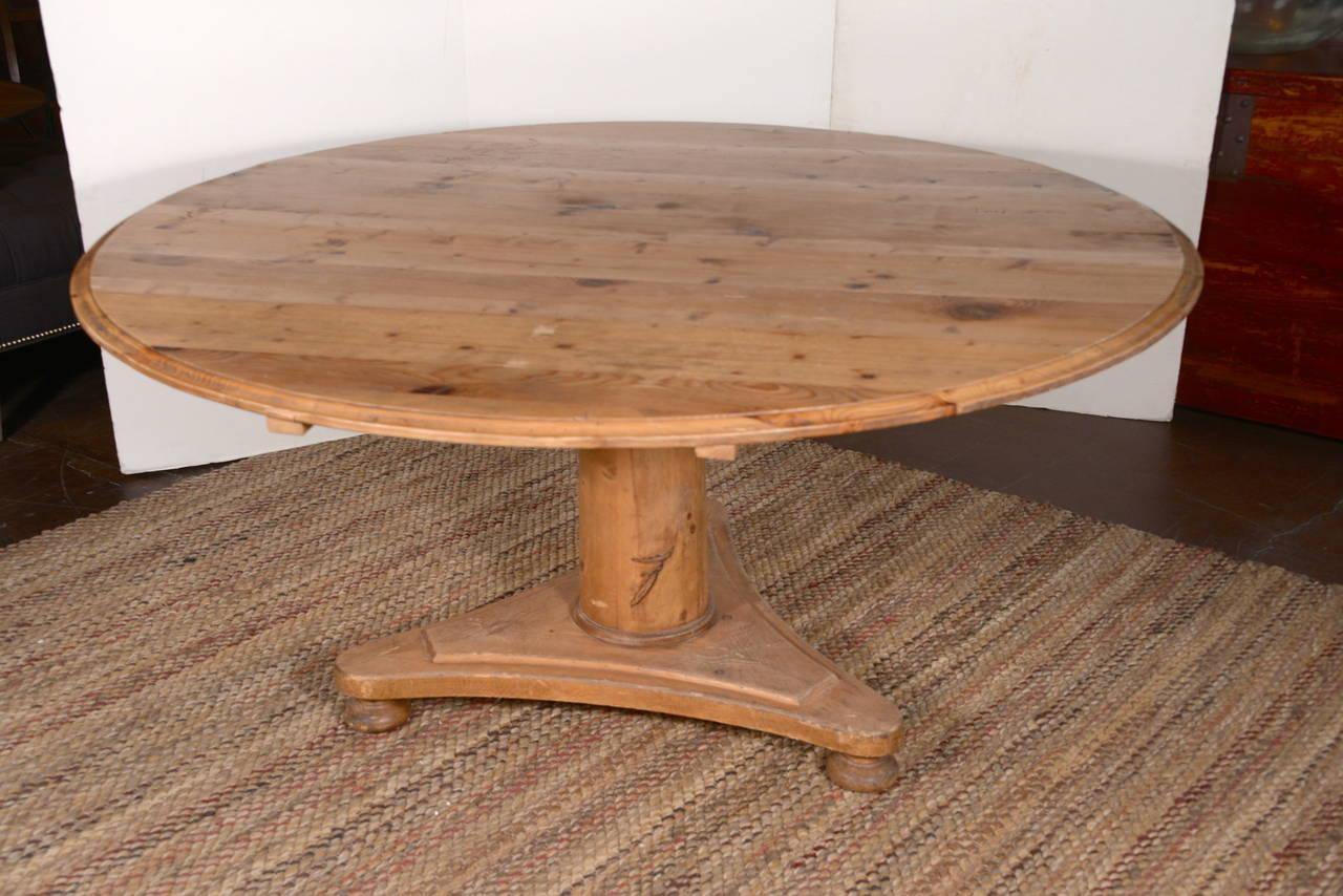 pine pedestal design dining table at 1stdibs