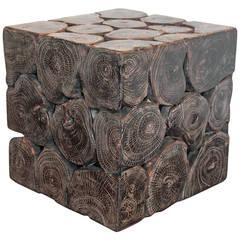 Cube Teak Mosaic Wood Table