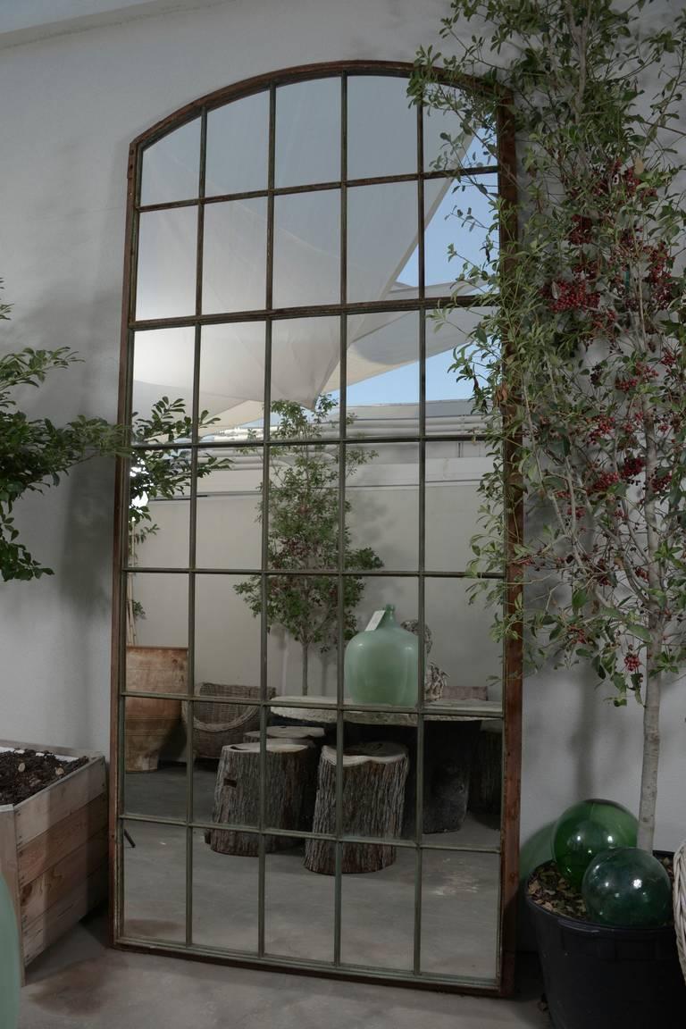 French Garden Window Floor Mirror 120 H Quot At 1stdibs