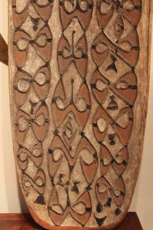 Hand Carved Antique Shield from New Guinea 3