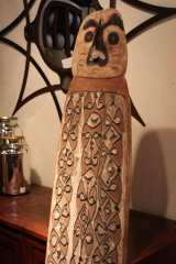 Hand Carved Antique Shield from New Guinea image 5