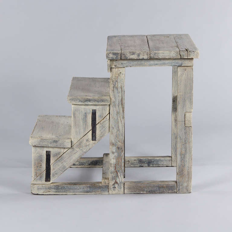 French Painted Step Stool At 1stdibs