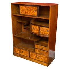 Elm and Tamo Wood  Low Cabinet