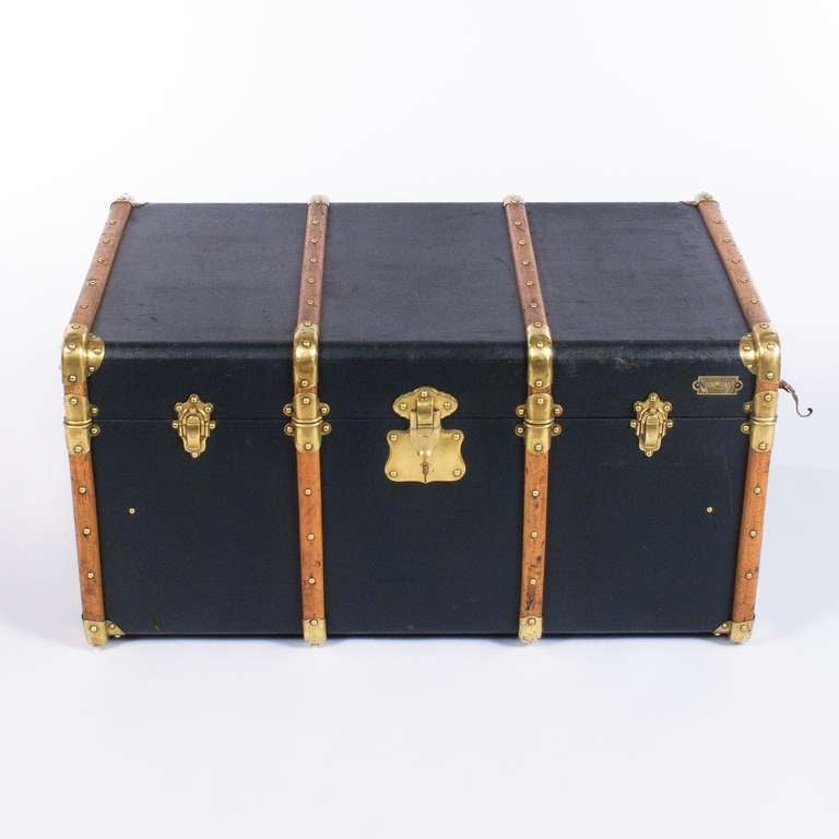 """French Traveling Trunk by """"Old England"""" 5"""