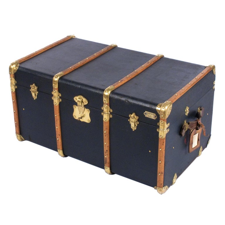 """French Traveling Trunk by """"Old England"""" 1"""