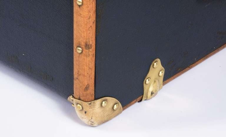 """French Traveling Trunk by """"Old England"""" 9"""