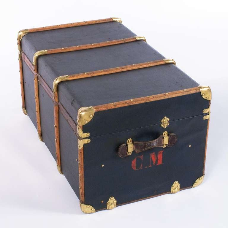 """French Traveling Trunk by """"Old England"""" 4"""