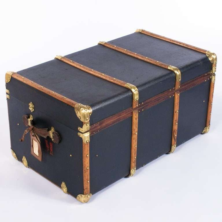 """French Traveling Trunk by """"Old England"""" 3"""