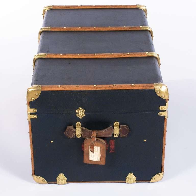 """French Traveling Trunk by """"Old England"""" 2"""