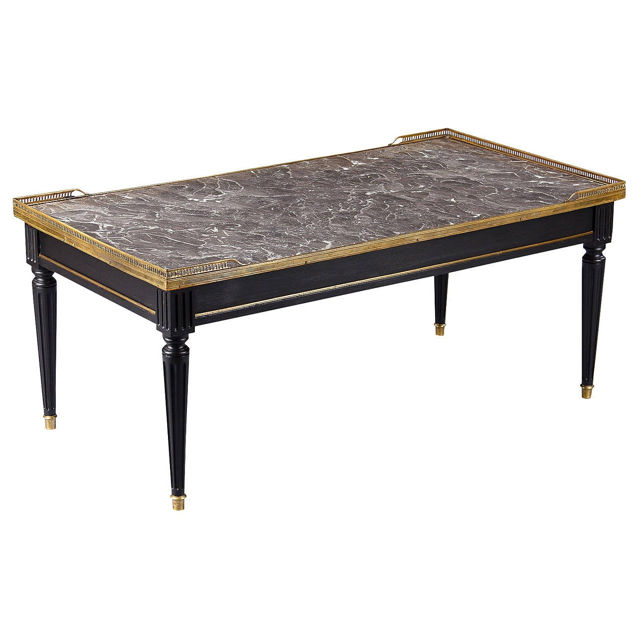 French louis xvi style marble top coffee table 1940s at 1stdibs Stone top coffee table
