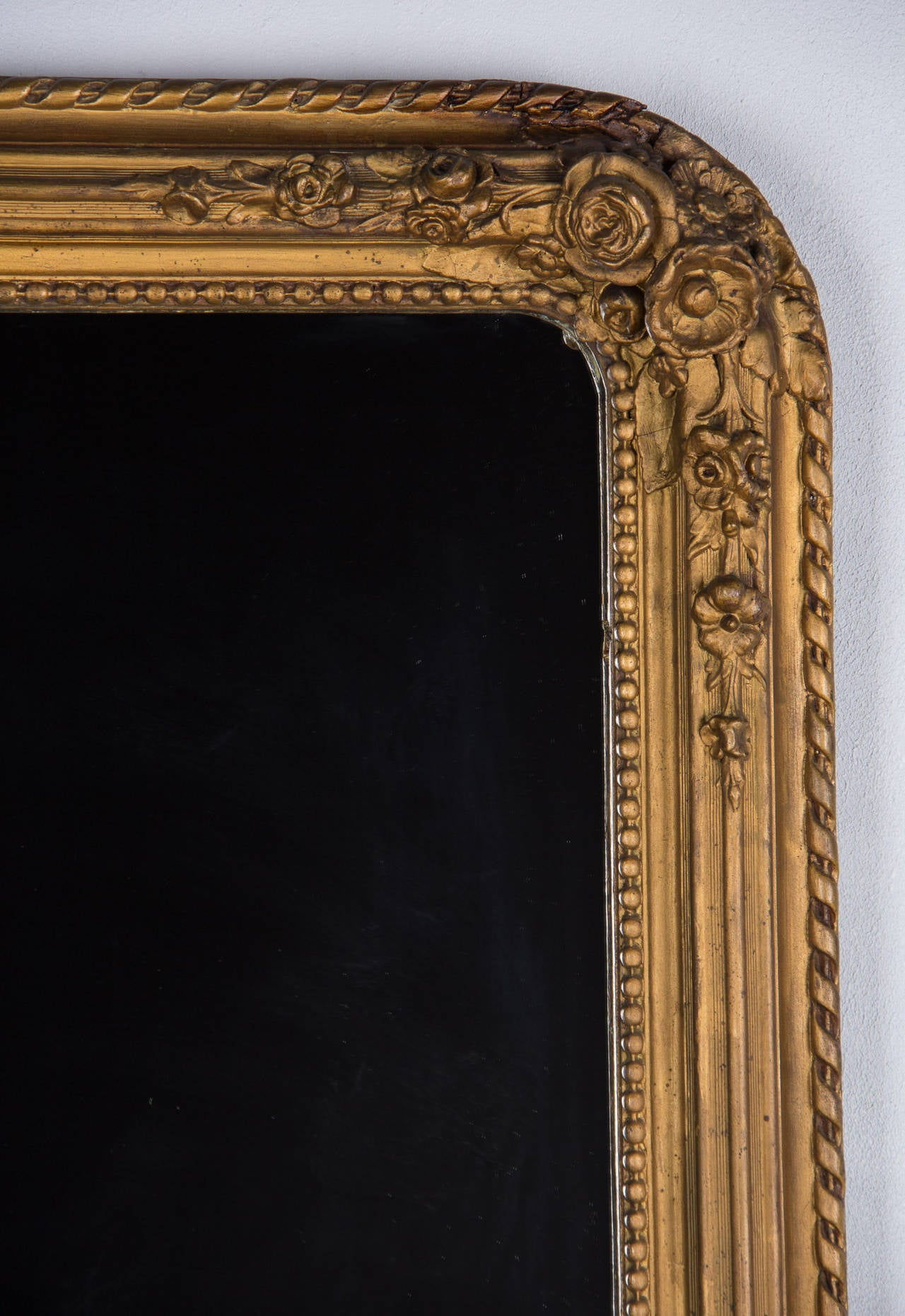 Late 19th Century French Napoleon III Period Gilded Mirror, 1870s