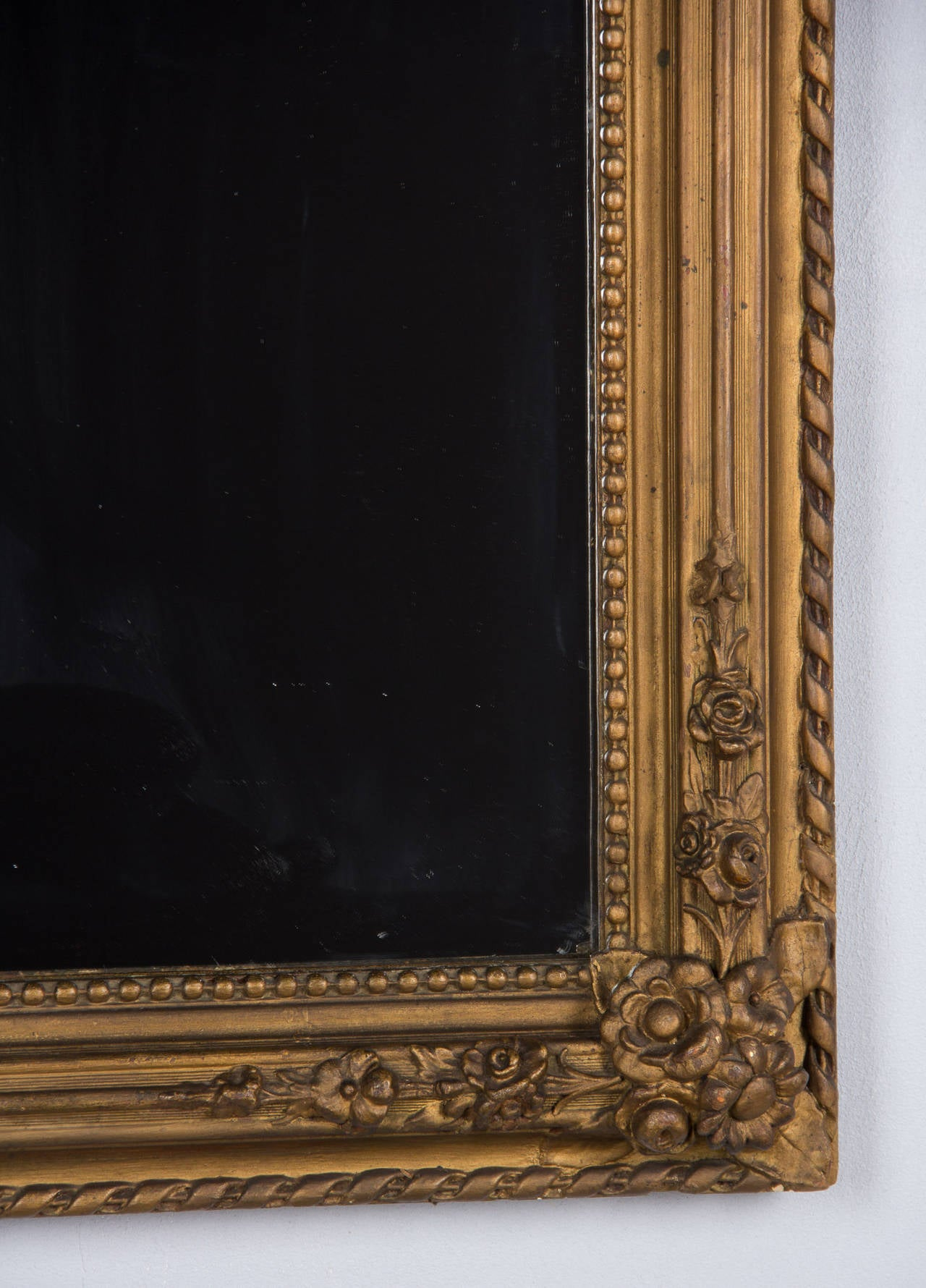 French Napoleon III Period Gilded Mirror, 1870s 1