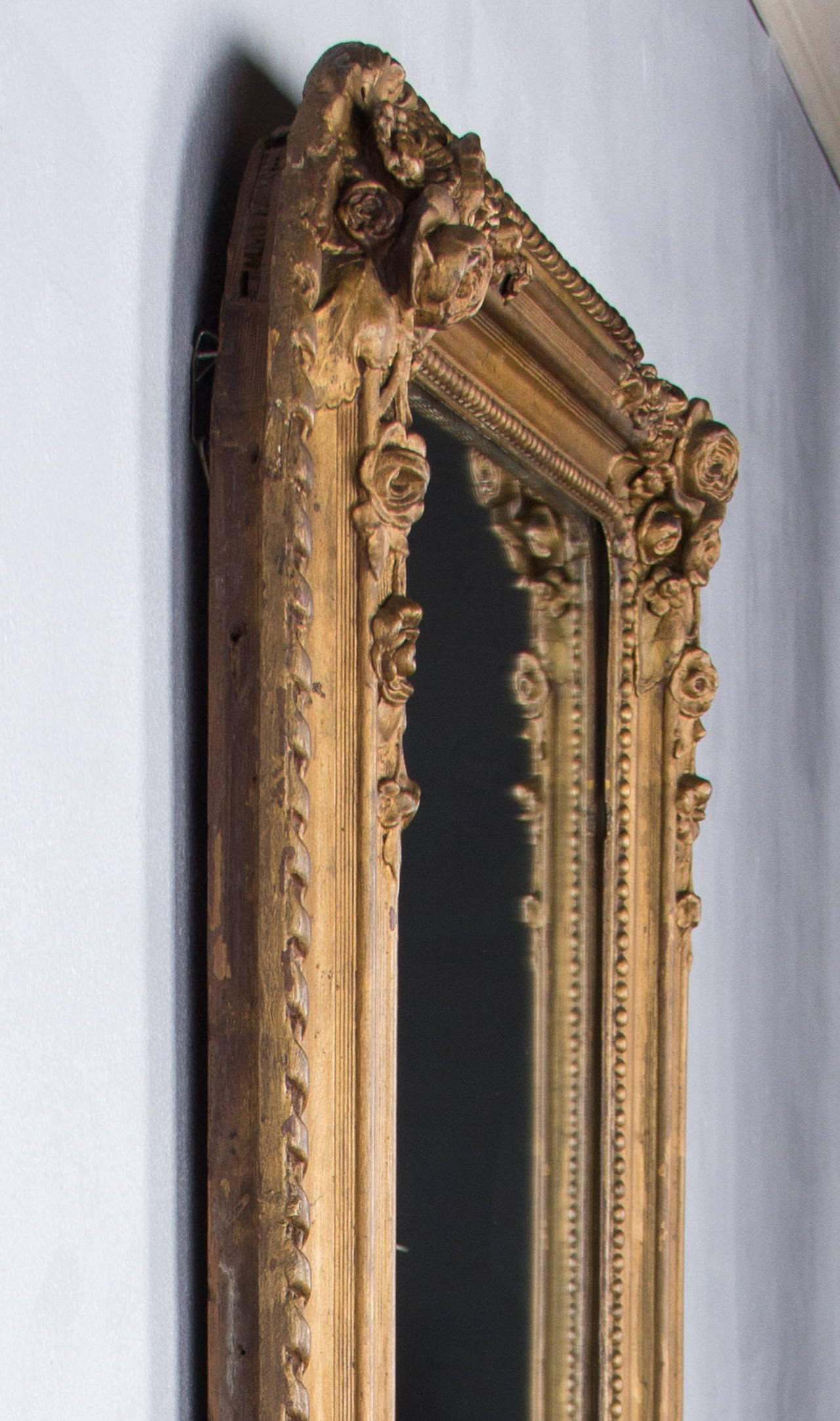 French Napoleon III Period Gilded Mirror, 1870s 3