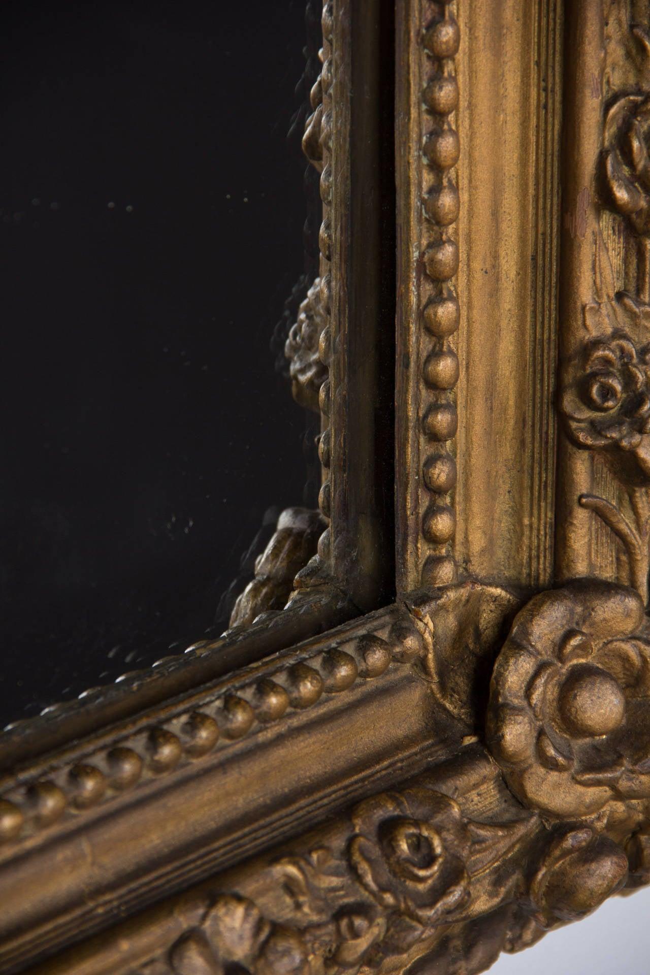 French Napoleon III Period Gilded Mirror, 1870s 5