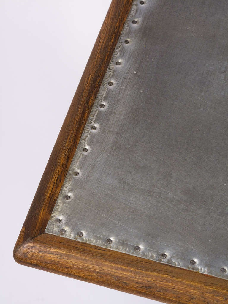 French Bistro Table With Zinc Top At 1stdibs