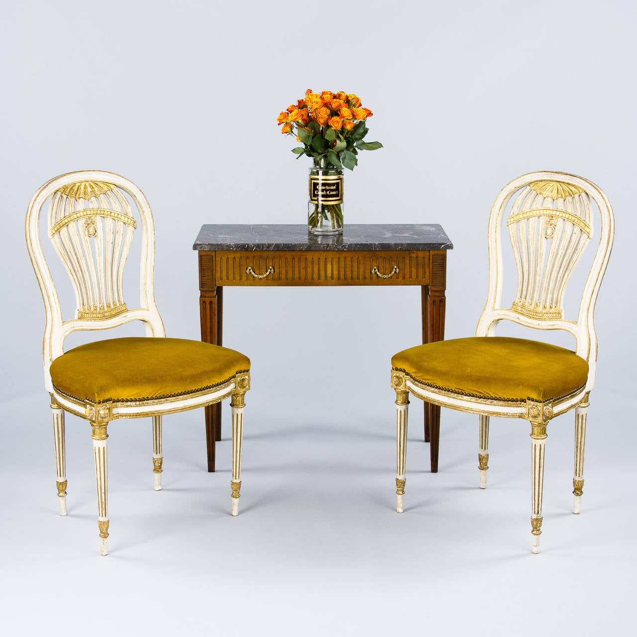 Set of 4 French Louis XVI Style quotMontgolfierequot Chairs  : 2IMG2958l from www.1stdibs.com size 1280 x 1280 jpeg 139kB